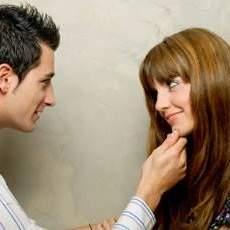 Flirten van een vrouw
