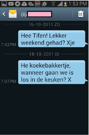 Flirten via sms of Whatsapp - hoe doe je dat? - flirten op start2flirt