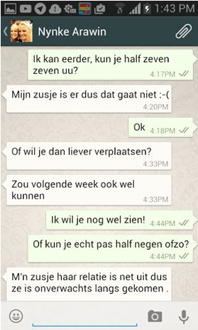 Flirten via sms en WhatsApp plus 7 tips